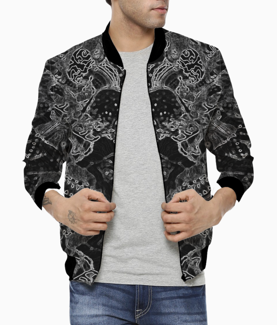 Abstract spider bomber front