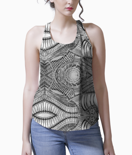 Abstract lavender tank front