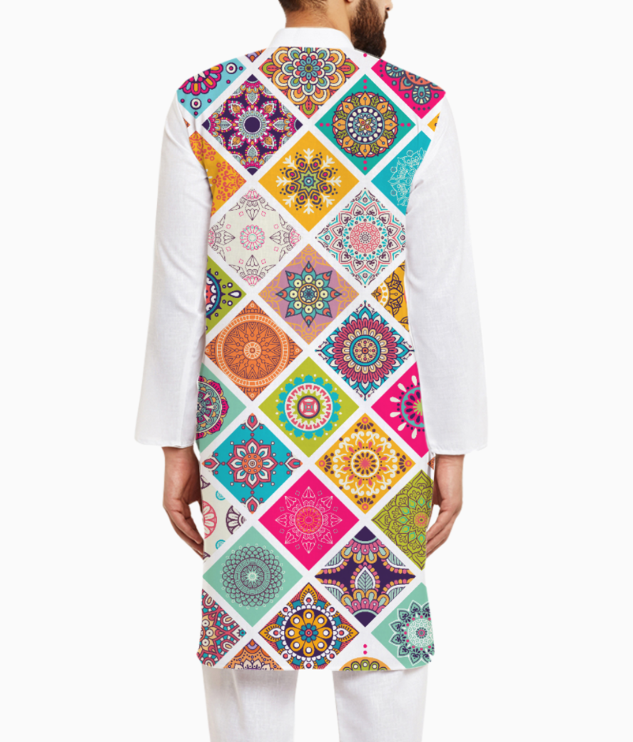Mandala fun kurta back