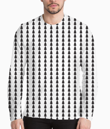 Abstract black white seamless pattern background henley front