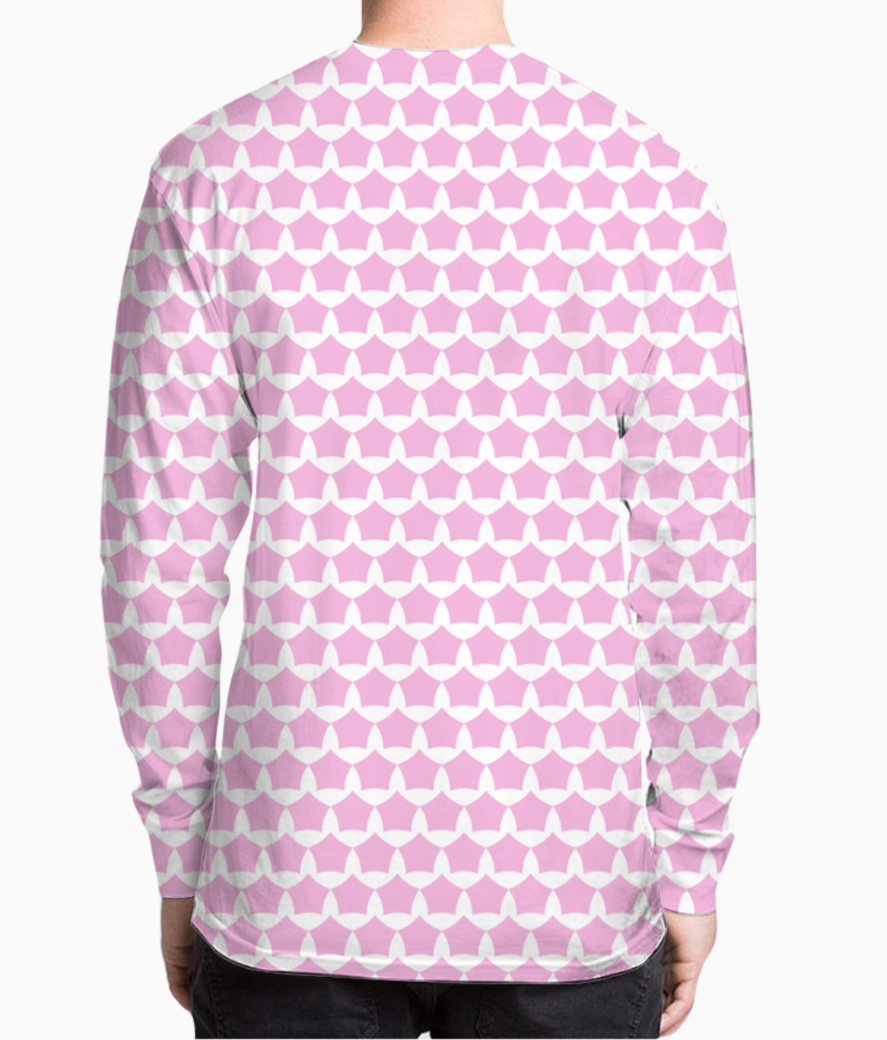Abstract pink white seamless pattern background henley back