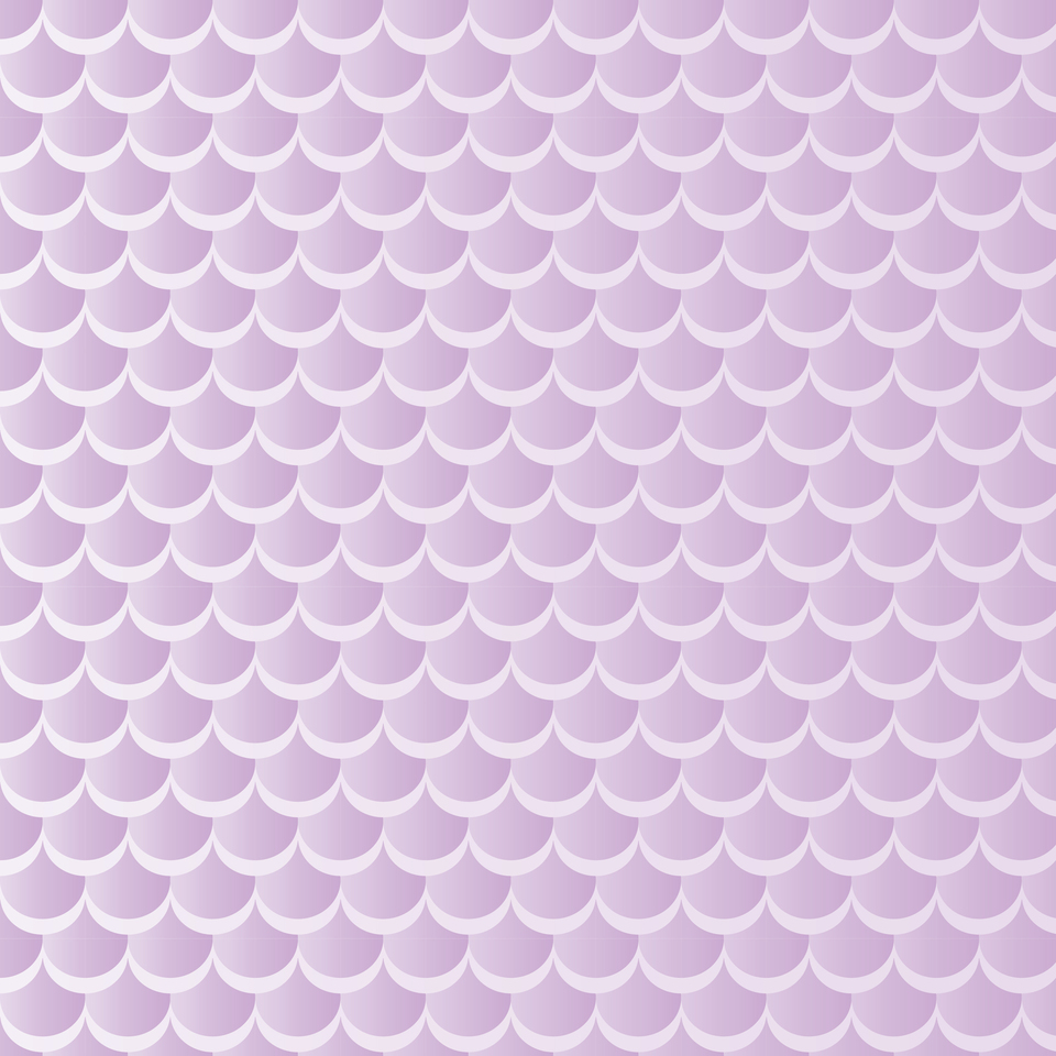 Violet pastel mermaid pattern