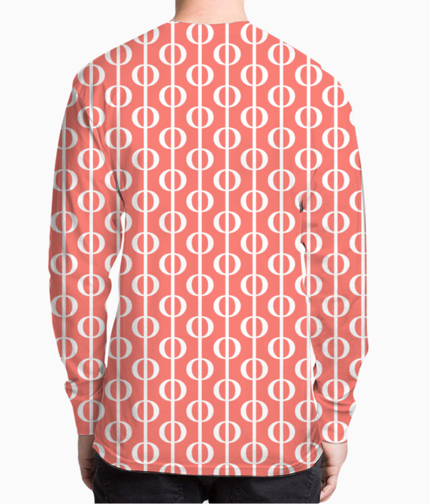 Living coral  bubbles henley back