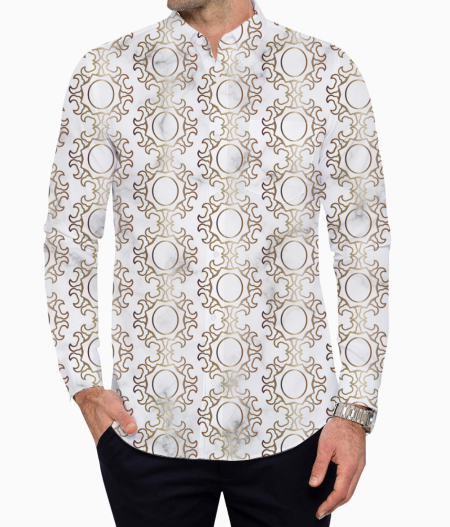 Art deco art  8 basic shirt front