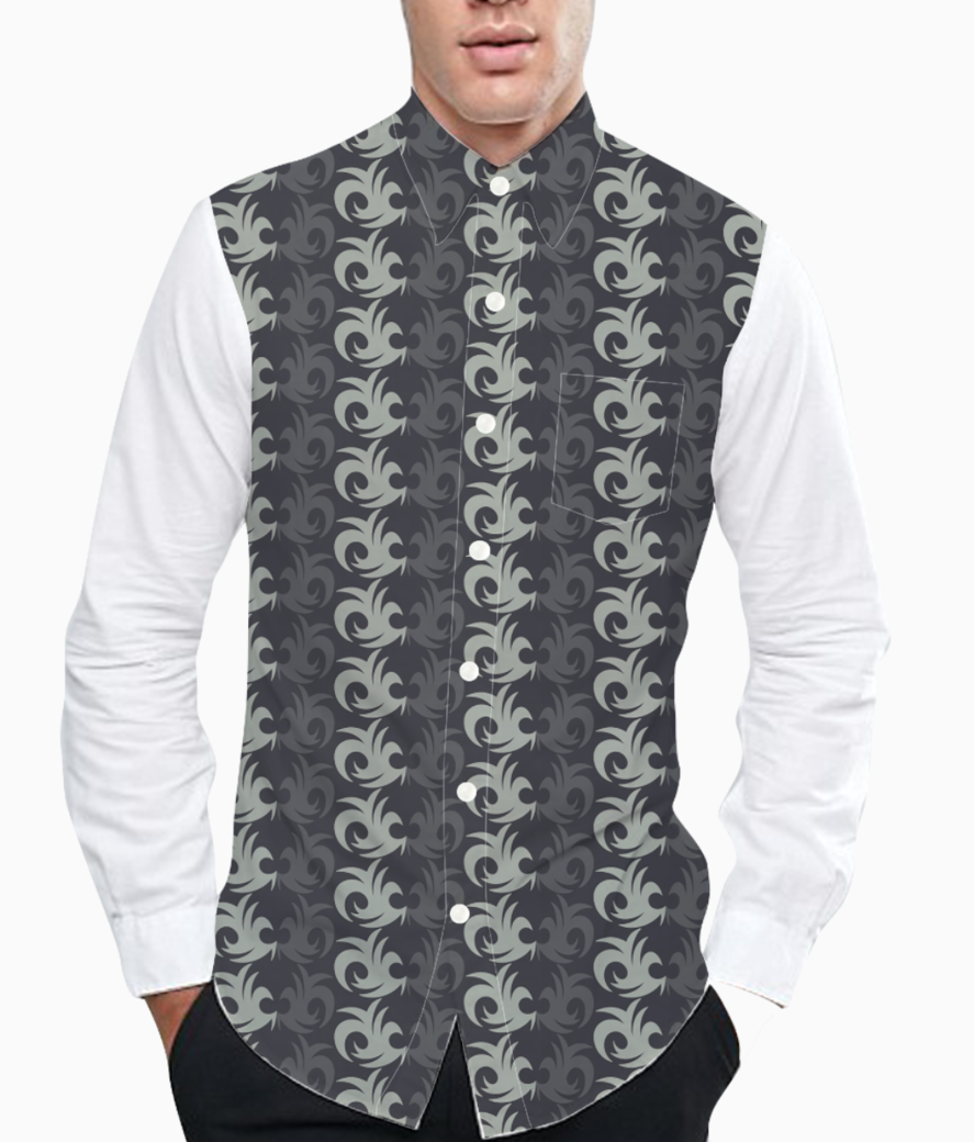 Abstract design seamless pattern background basic shirt front