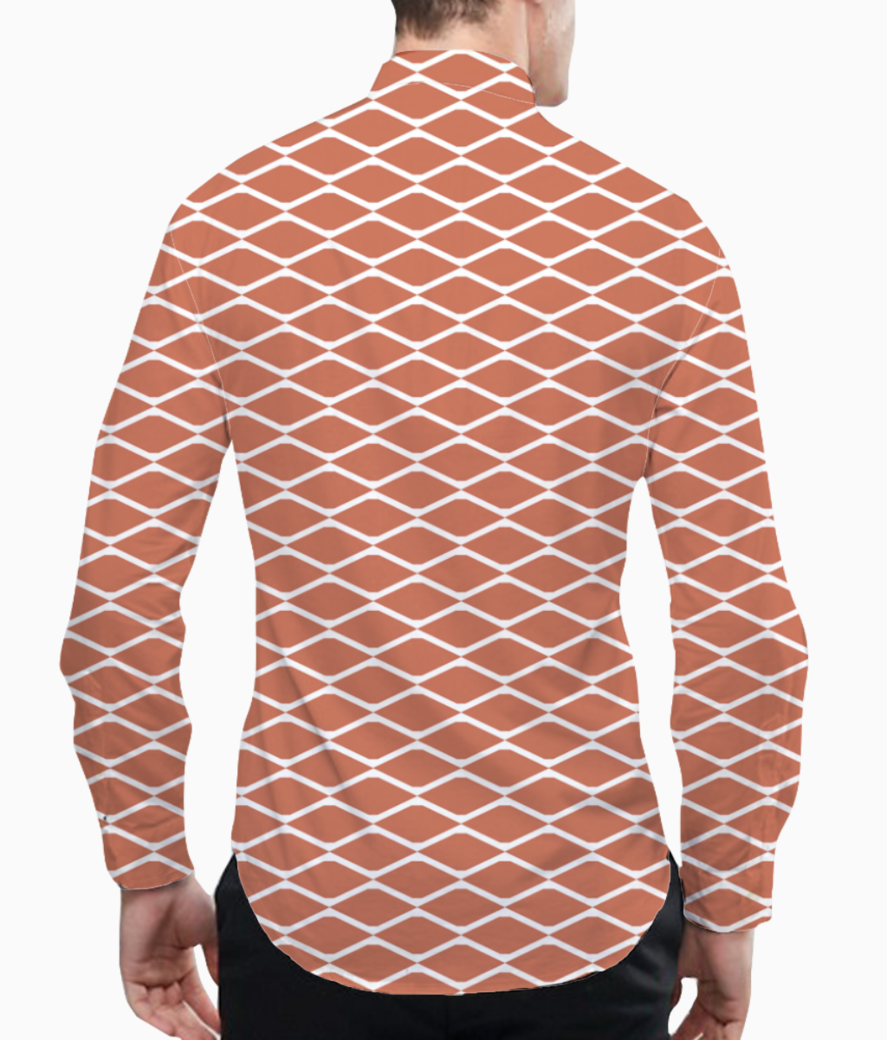 Brick seamless pattern background basic shirt back