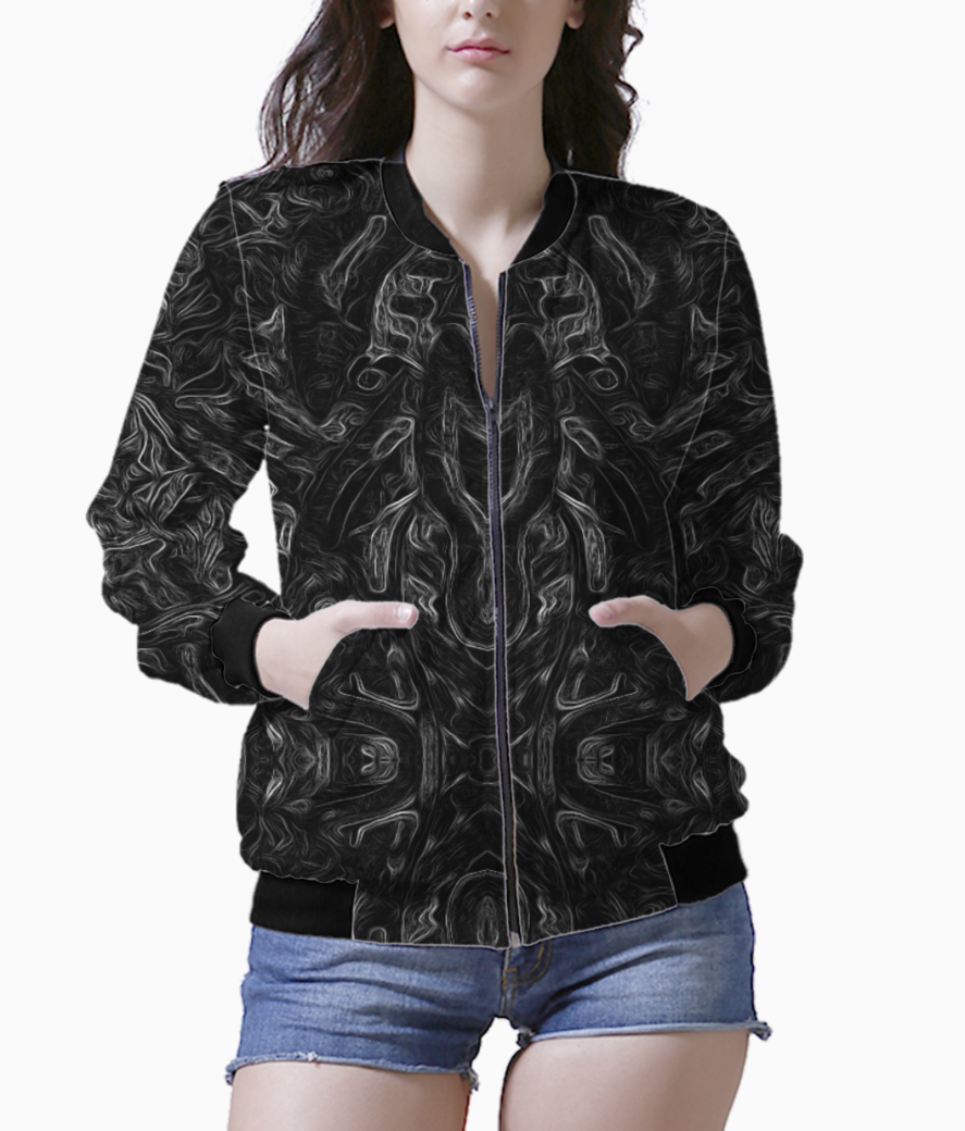 Abstract atribal bomber front
