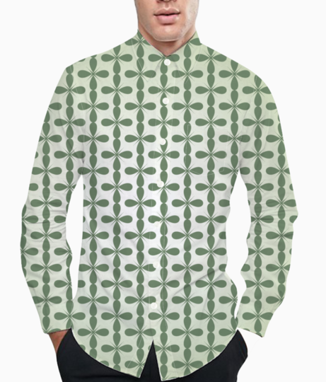 Floral seamless pattern background basic shirt front