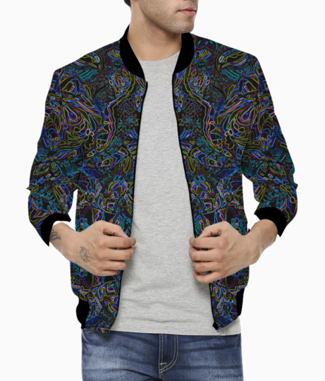 Abstract blue evolution bomber front
