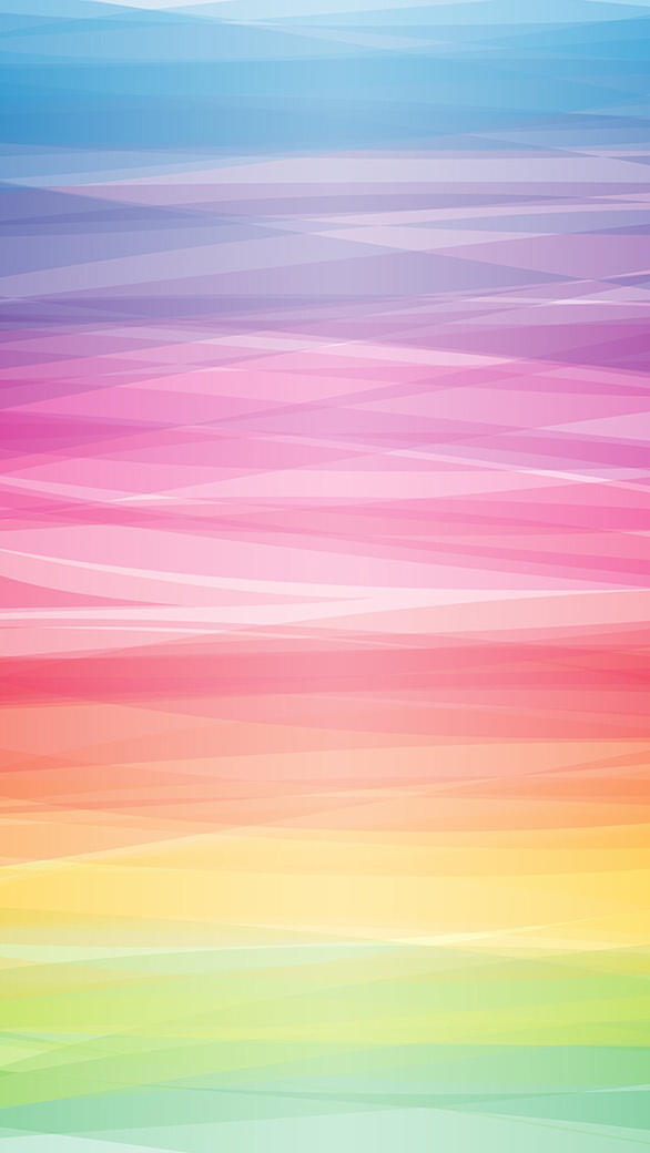 Pastel colorful smooth lines iphone 5 wallpaper