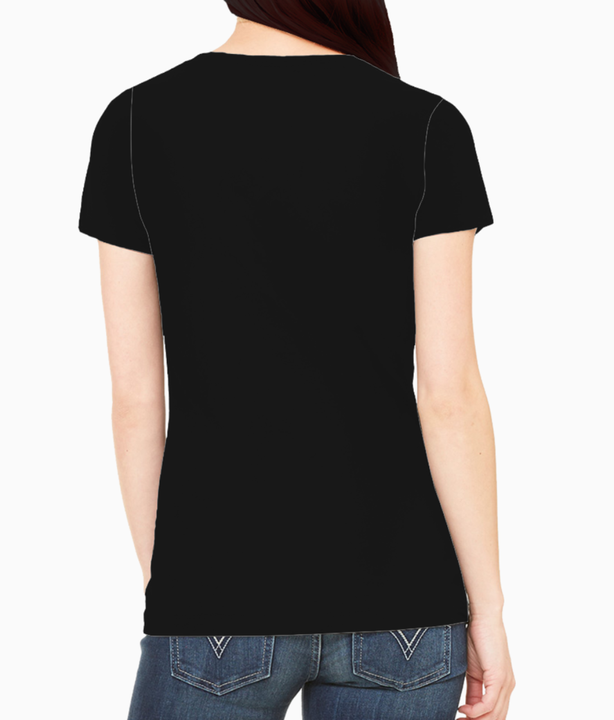 Scary cat face tee back