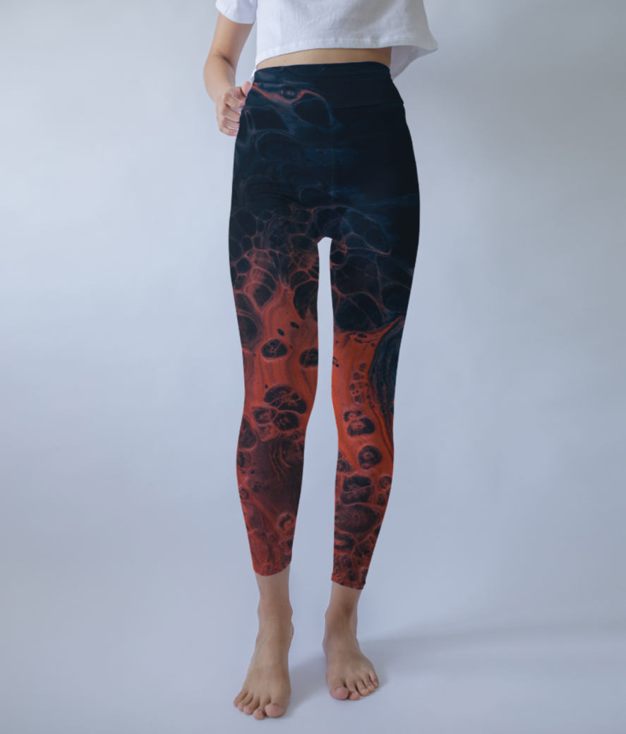 Ombre splash leggings front