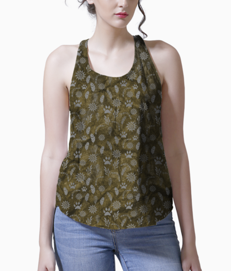 Gold tribe tank front