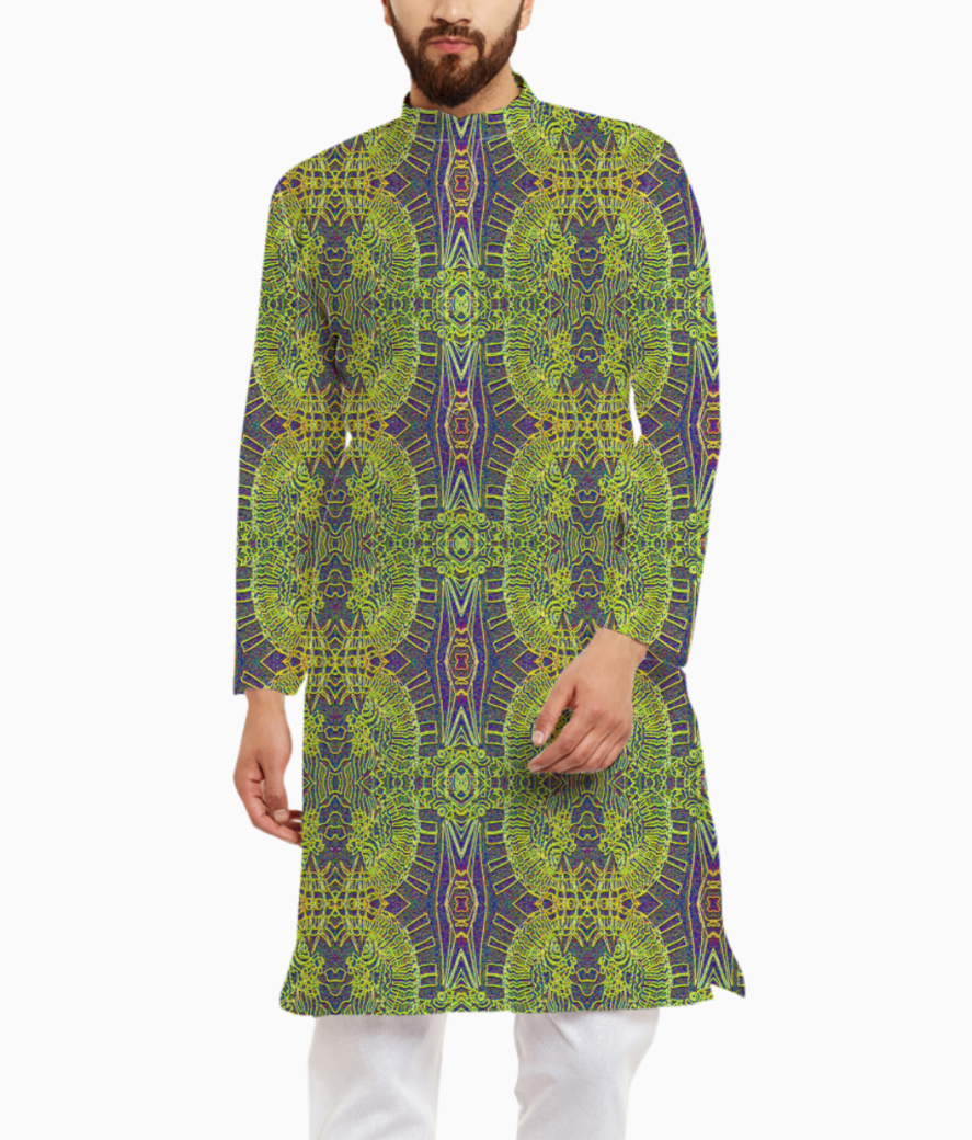 Squiggle bright bubble kurta front