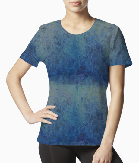 Blue marble tee front
