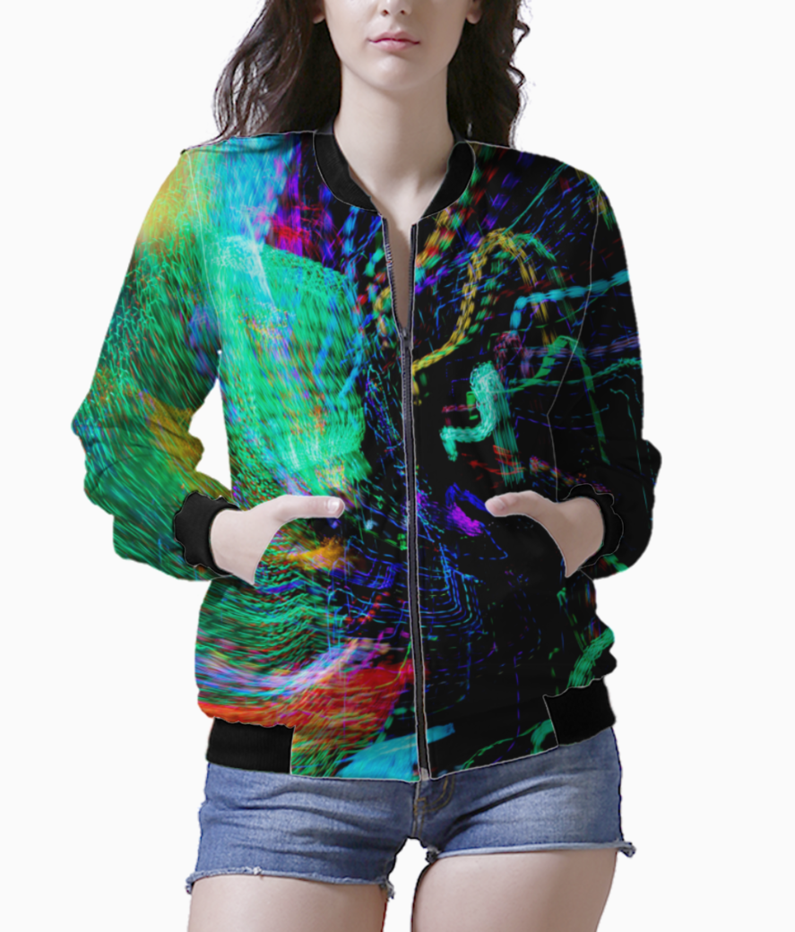 Color stream bomber front