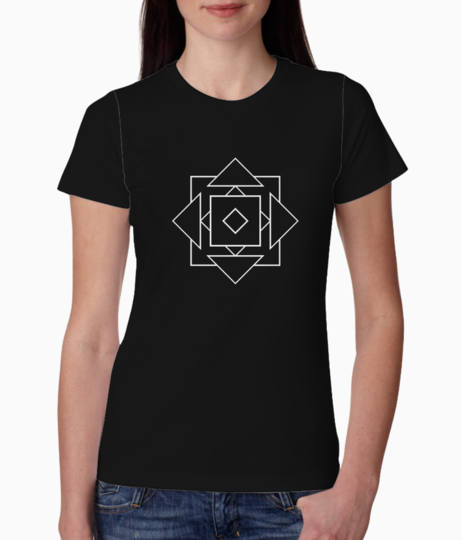 Illusions geo tee front