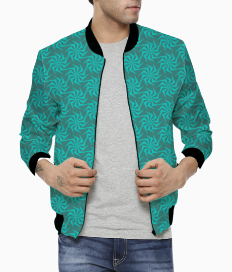 Abstract seamless pattern bomber front