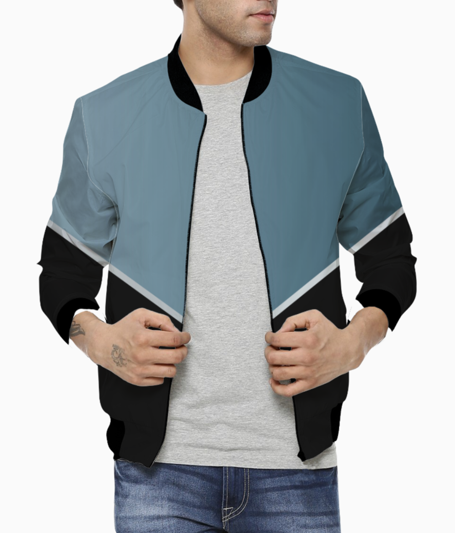 Earthstone modern abstract bomber front