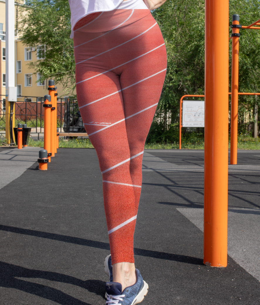 Coral mini leggings front