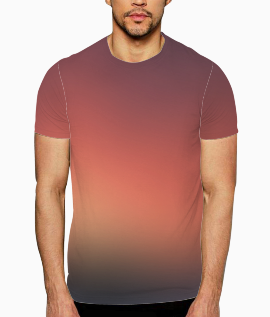 Sunset blurred abstract t shirt front