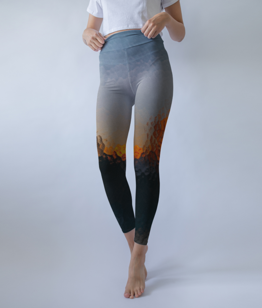 Orange payne leggings front