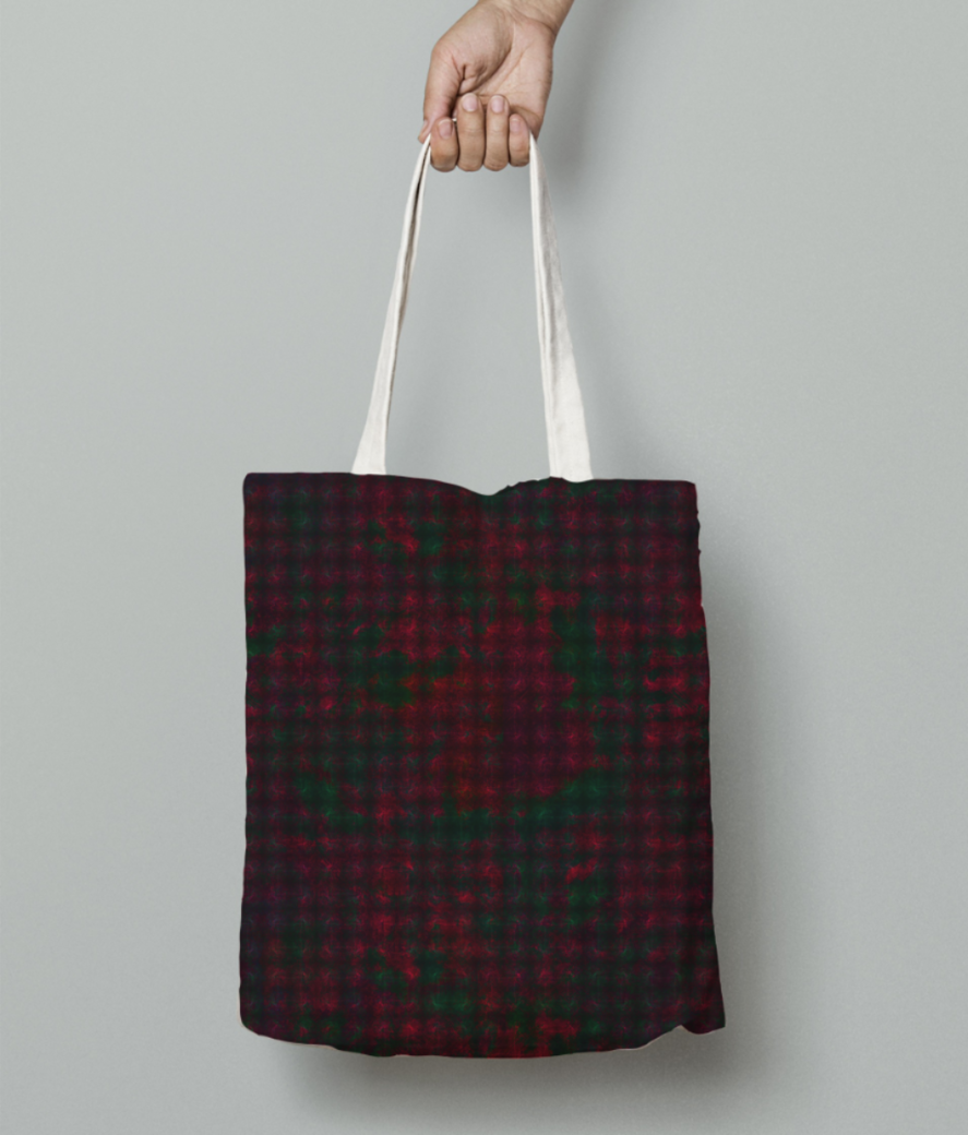 Checkers tote bag front
