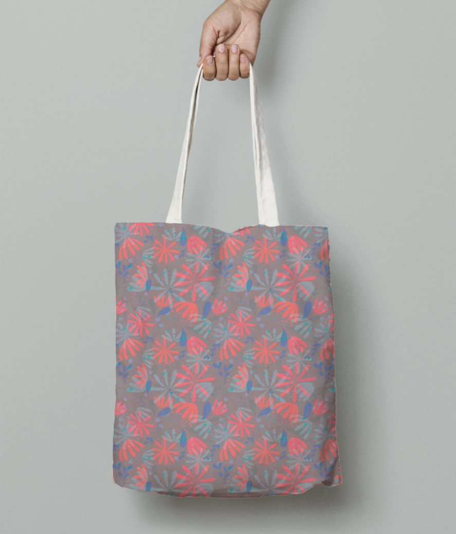 Flowers in heaven tote bag front
