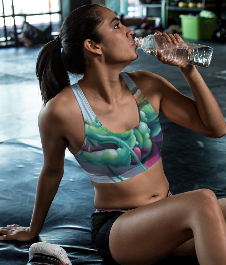 Dragon arcimboldo sports bra front