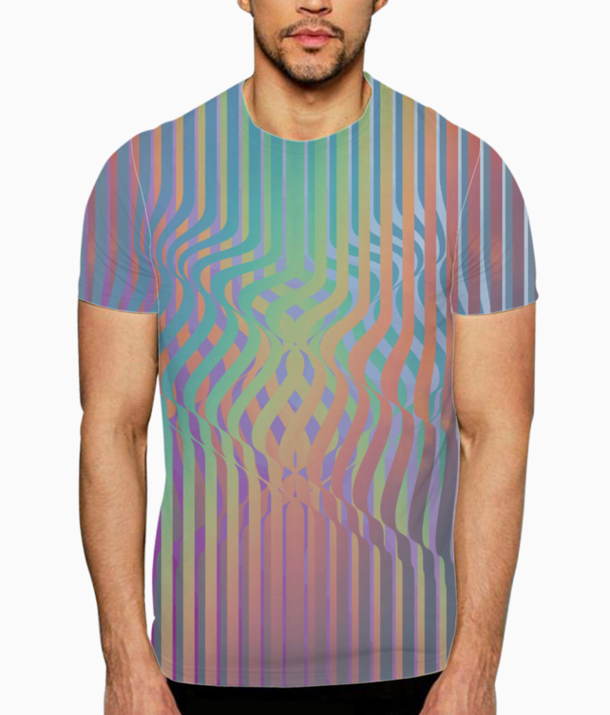 Color wiggle t shirt front