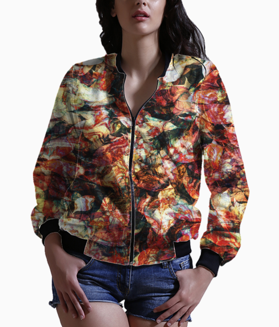 Autumn leaves bomber front