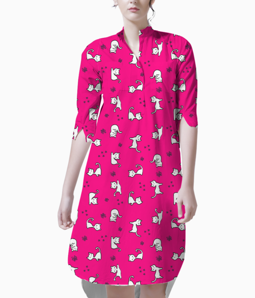 Kitty  dark pink kurti front