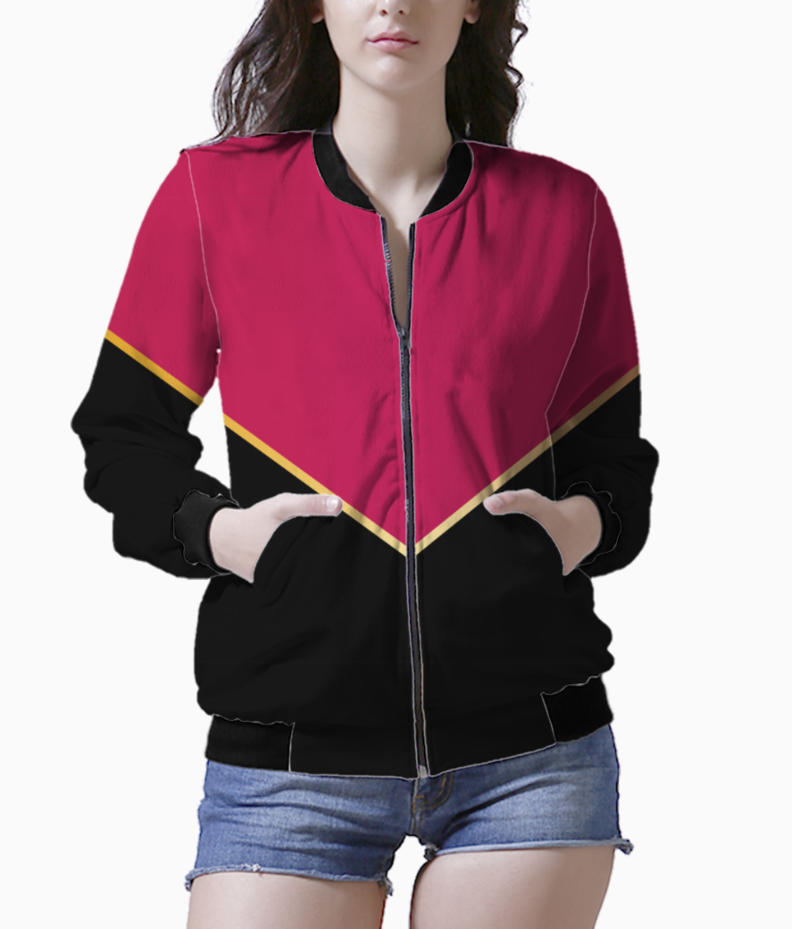 Ruby modern abstract bomber front