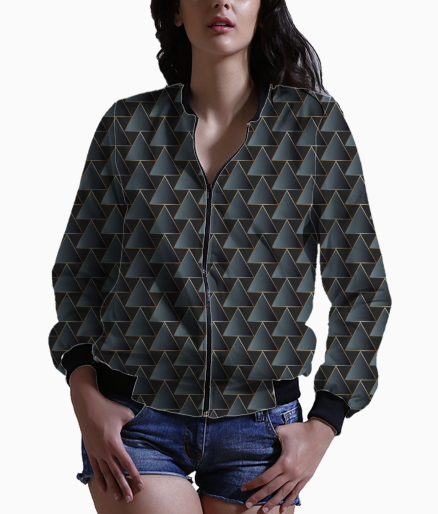 Royal ethnic triangle art bomber front