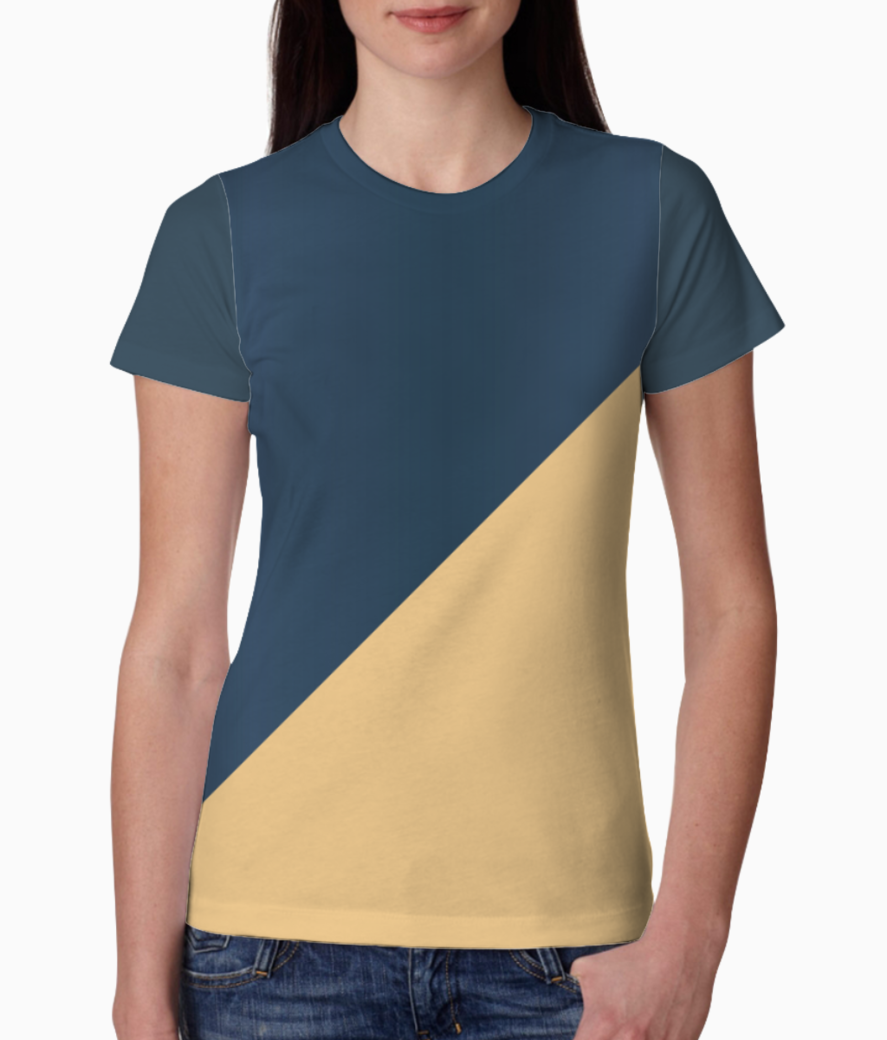 Abstract royal blue tee front