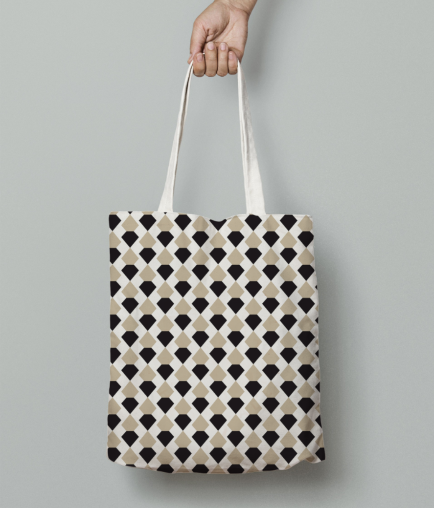 Cross check pattern tote bag front