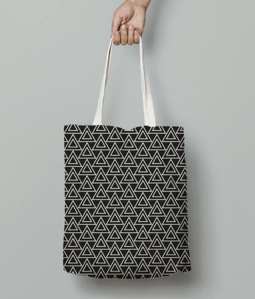 Tribe black art tote bag front