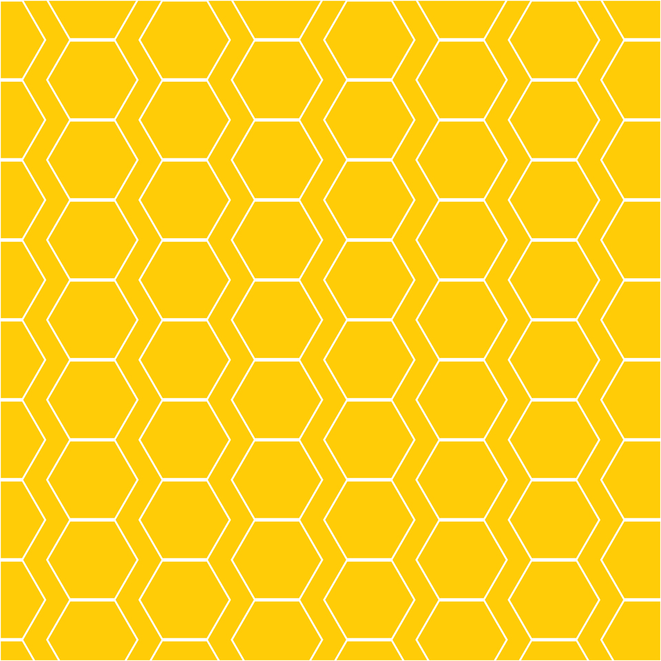 Yellow white hexagon pattern