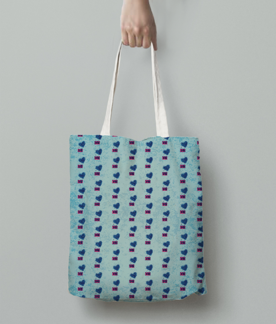 80s party bomber tote bag back