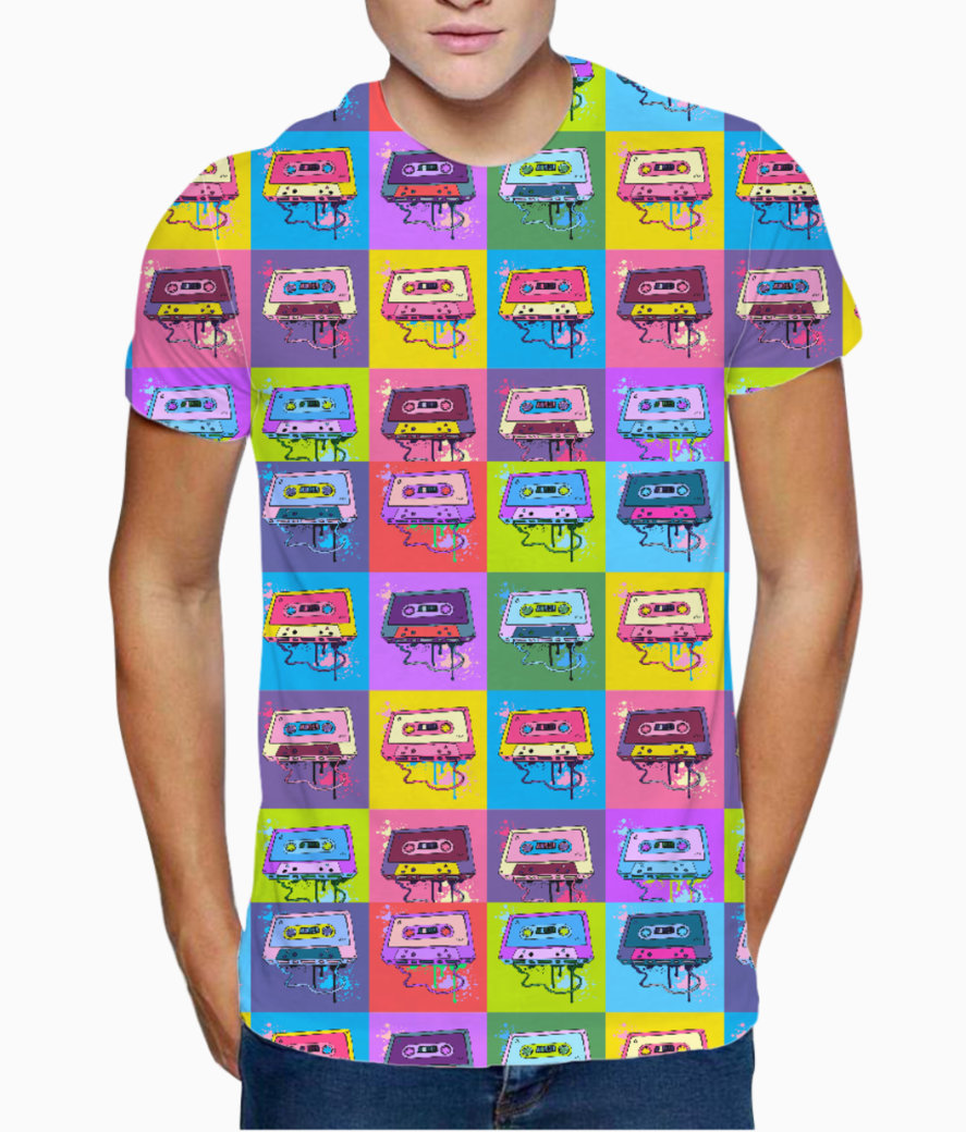 Psychedelic party t shirt front