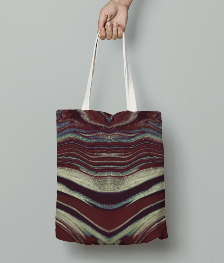 Butterfly skin tote bag front