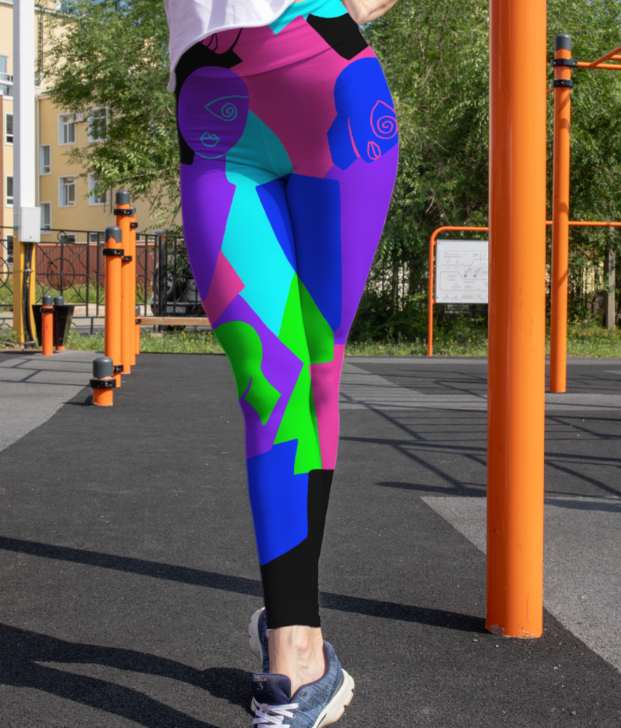 Chaos leggings front