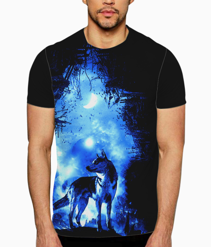 The wolf t shirt front