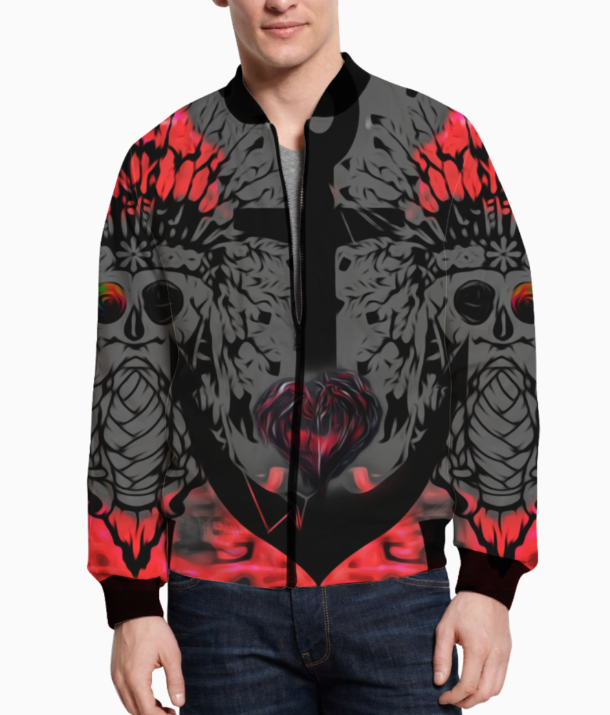 Anchored heart bomber front