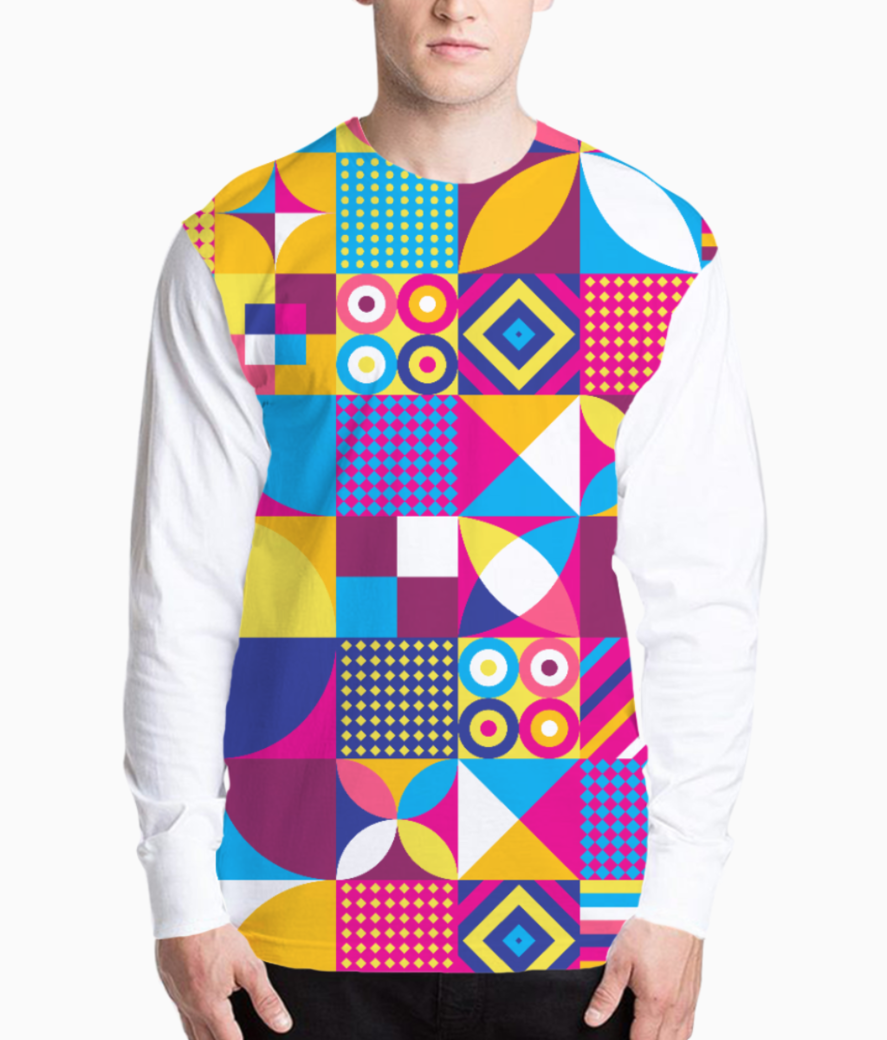 Abstract art henley front