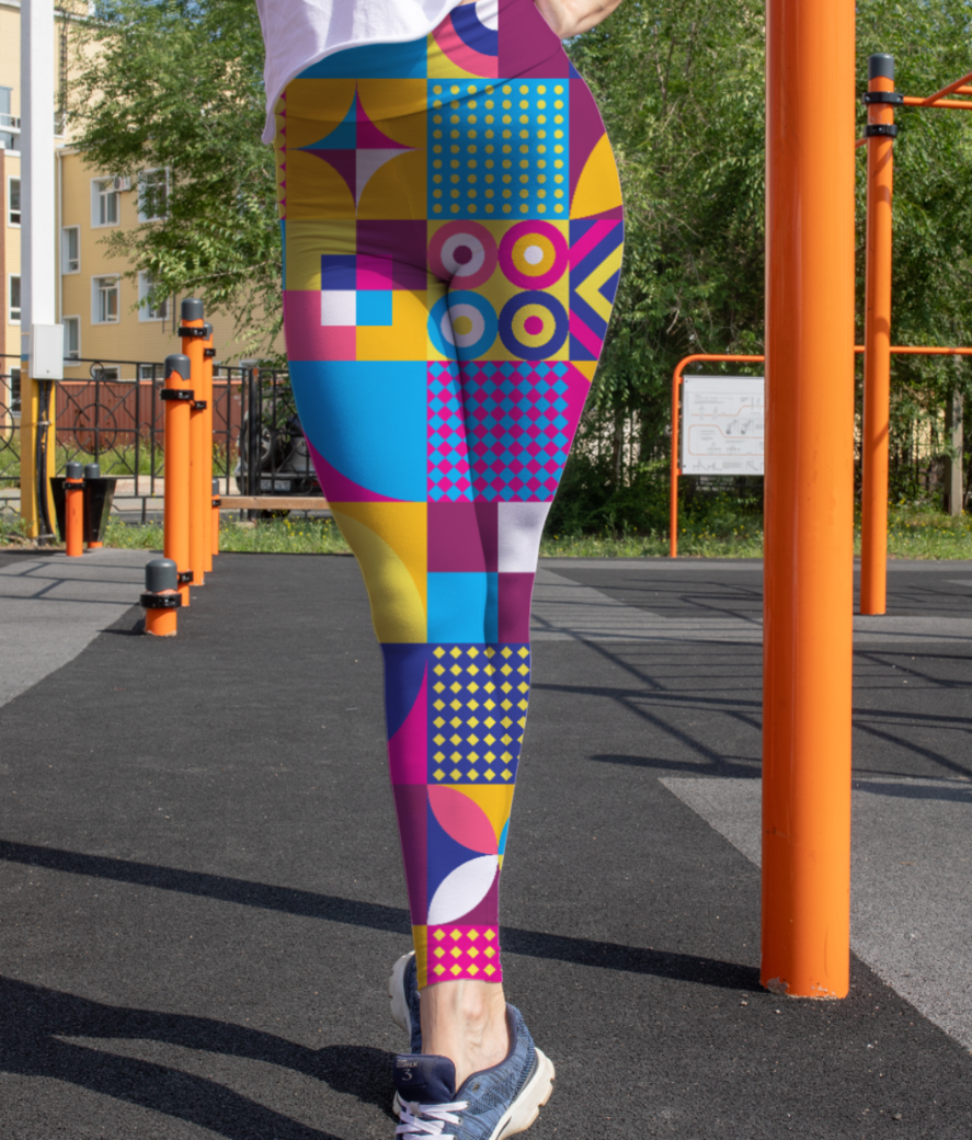 Abstract art leggings front