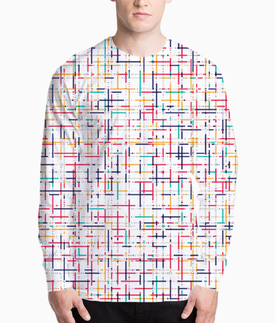 Abstract checks  pattern henley front