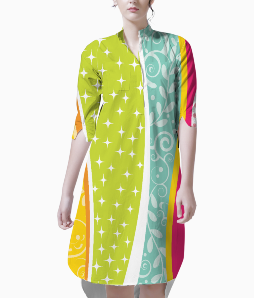 Abstract lines pattern 2 kurti front