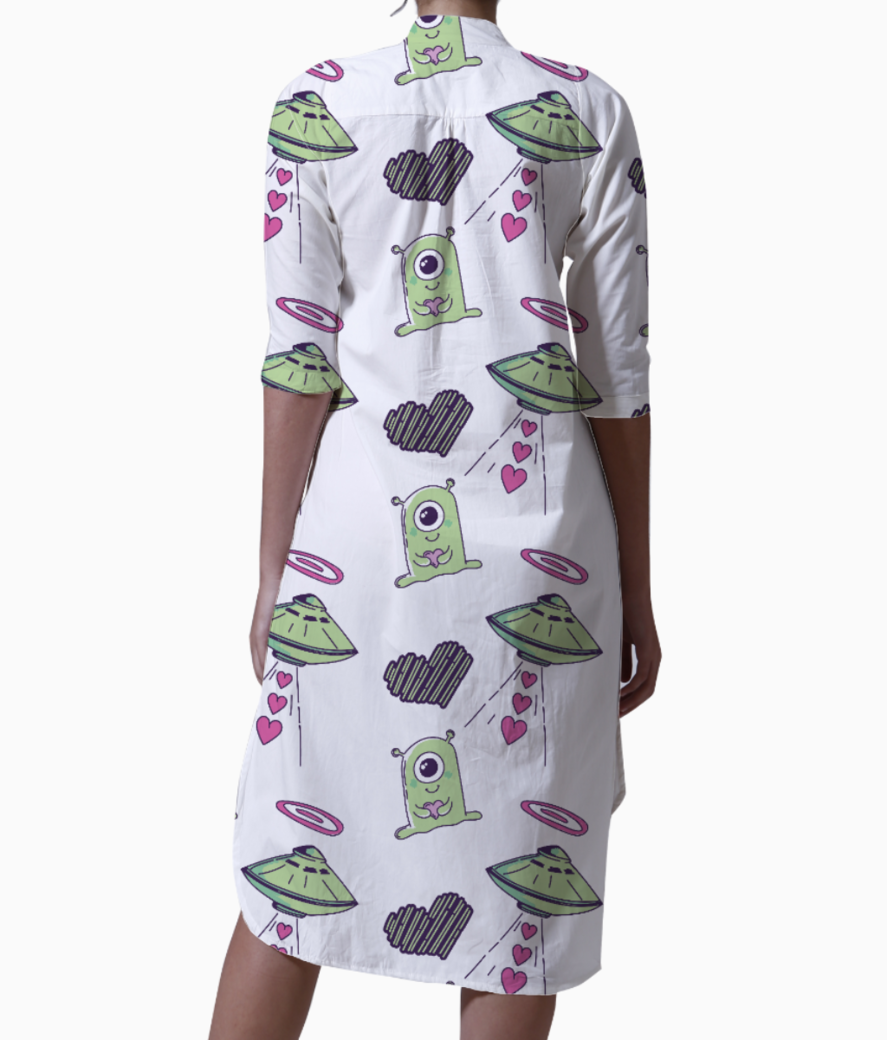 Alien love kurti back