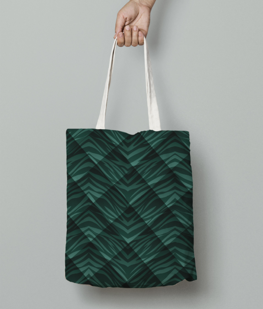 Animal print tote bag front